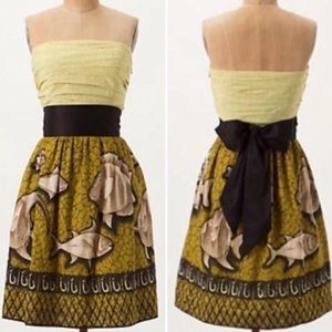 Anthropologie Vanessa Virginia Baxter Fish Dress
